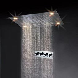 Cascada Classic Design 31 Inch  Large Rain Shower Set with W