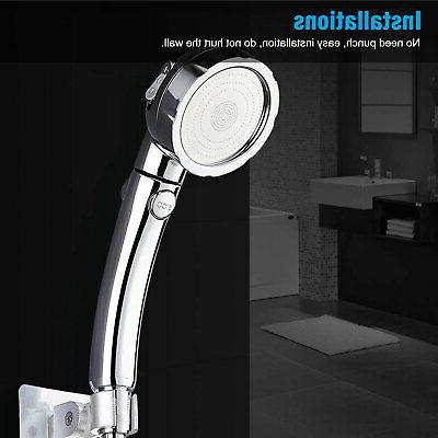 3 Pressure Showerhead Shower Head Handheld with 3-Setting ON/Off Pause
